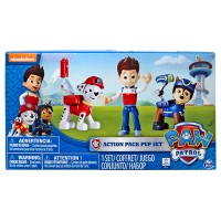 Paw Patrol Action Pack Pups Set Of 3 Pcs Marshall - Ryder - Chase