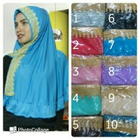 Syria Renda / Jilbab Renda / Hijab Jersey / Khimar