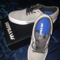Sepatu Supra Stacks Vulc Grey/Blue-White Original