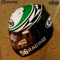 Arai RX7-RR5 56 Racing Limited Edition White Green