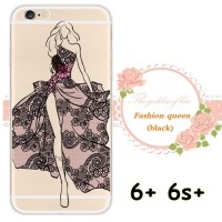 SOFT JELLY CASE BEST Qty FASHION QUEEN DRESS MODEL FOR IPHONE 6+ 6S+