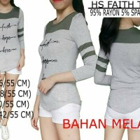harga Kaos wanita baseball Faith tee Branded Haley Star Original Tokopedia.com