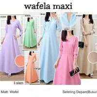 Dress Panjang Busui Menyusui Baju Gamis Wanita Muslim Long Terusan L