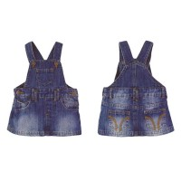 Smart Baby - Overall Dress Jeans Dark Blue - Rok Jeans Bayi dan Anak
