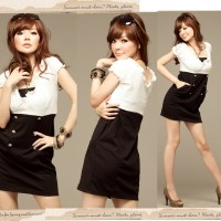 Harga Black And White Dress Travelbon.com