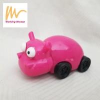 Serutan / Rautan Pensil Bentuk Hippo Pink