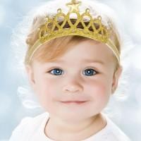 baby crown mahkota bandana tiara bayi. gold silver