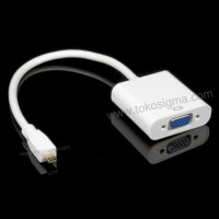 Micro HDMI M TO VGA F ADAPTER CABLE 22cm white - HEAC