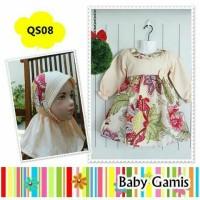 Muslim baby-set dress + jilbab QS08