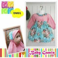Muslim baby - set dress+jilbab DM01
