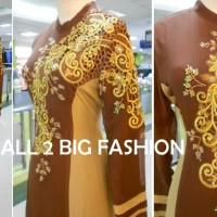 Dress Kaftan / Muslim / Gamis Maxi Kebaya LEBARAN 2016 BR 098 COKLAT