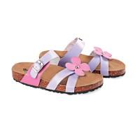 Sandal Flat Anak Perempuan Blackkelly LRA 488 Cokelat Ungu