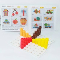 Mainan Edukatif / Edukasi Anak - Magic Color Beans Bean Pola Gambar