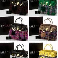 Tas Emory Viorelle #5366 Togo Mix Kanvas Original Brand Uk30x15x25