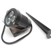 Lampu sorot LED taman 3W + tiang