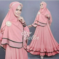 harga OMG Baju Hijab Wanita|Baju Gamis Syari Bella Peach Tokopedia.com