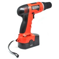 Cordless Rechargeable Electric Drill - DC-D010 Bor Listrik - Red