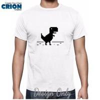Kaos Google - Google Chrome T-Rex - By Crion