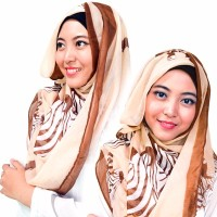 Jilbab Kerudung Pashmina Hijab Coklat Syal Scarf