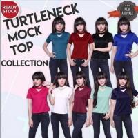 Harga turtleneck mock top blouse atasan cantik cocok untuk wanita | antitipu.com