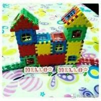 Mainan edukasi lego bongkar pasang bangunan rumah
