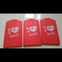 ID Koper/Luggage Tag/Gantungan Koper/Bag Tag (Bisa Costum Logo Sendir)