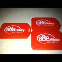 ID Koper/Luggage Tag/Gantungan Koper/Bag Tag (Bs Costum Logo Sendir)
