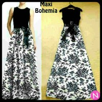 Longdress Flowy White Black