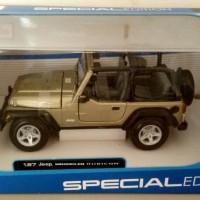 diecast miniatur mobil maisto jeep wrangler rubicon