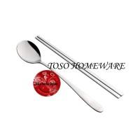 Jual Tanica Korea Chopstick & Spoon Sujeo Korean Sendok Sumpit Makan Korea Murah