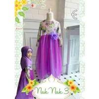 Baju Muslim Anak Perempuan. Baju Import Anak. Gamis Anak Ungu