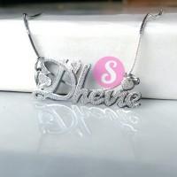 Kalung Nama Silver Grafir - Dhevie