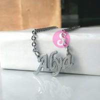 Kalung Nama Silver Grafir - Alya