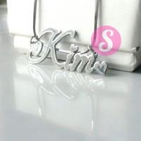 Kalung Nama Silver Grafir - Kim
