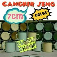 Jual Cangkir kaleng / Enamel / Mug Jadul / Seng bisa untuk souvenir Murah