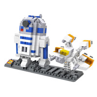 Jual LOZ Lego Nano Block Nanoblock R2-D2 With Spaceship Star Wars Murah