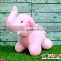 Boneka Gajah Pink ( HK - 262025 )