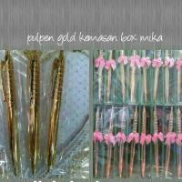 souvenir pernikahan pena emas / pulpen emas murah unik