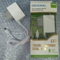 harga Travel Charger Dual USB LED Merk ADVAN Tokopedia.com
