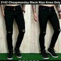 Jual chepmondey black rips/ celana jeans sobek Murah
