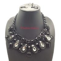 harga Aksesoris Necklace/Kalung Fashion Gothic Black/Hitam (Best Quality) Tokopedia.com