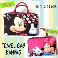 Jual Travel Bag / Tas Jalan / Koper Anak Kanvas Mickey TB01M Murah