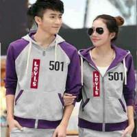 (TEBAL) Jaket Pria Wanita Couple CP 501 Levis Purple