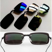 harga kacamata hitam mirror polarized clip on Tokopedia.com