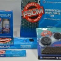 Gear Set (drive Chain Kit) Honda Kharisma / Supra 125 Brand Fscm