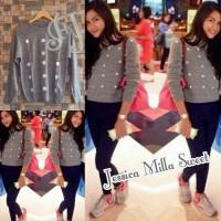 Sweater Rajut Bordir Wanita Korea Jessica Mila Sweet