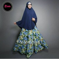BUTIQ COLLECTION ORIGINAL PREMIUM GAMIS FAIZA SYARI NAVY BY DWIN