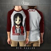 MIO RAGLAN - UNOFFICIAL AKIYAMA MIO K-ON! ANIME CLOTHING MERCHANDISE