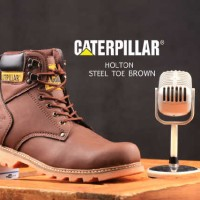 Jual Sepatu Caterpillar Holton Steel Toe Brown Safety Murah