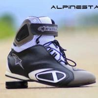 Sepatu Alpinestar Racing Boots Black Grey